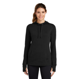 Sport-Tek Ladies PosiCharge Tri-Blend Wicking Fleece Hooded Pullover